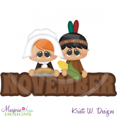 November Title SVG Cutting Files Includes Clipart