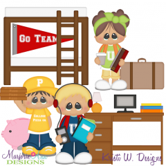 College Life SVG Cutting Files + Clipart