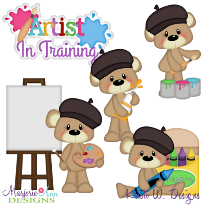 Little Artist Exclusive SVG Cutting Files + Clipart