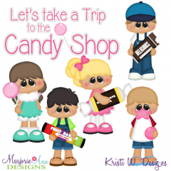 Trip To The Candy Shop SVG Cutting Files Includes Clipart