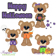 Halloween Bears SVG Cutting Files Includes Clipart