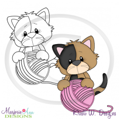 Purrfect Life Kitty 4 Digital Stamp + Clipart