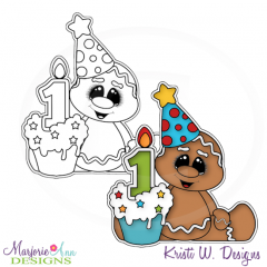 Sweet Ginger 1st Birthday Exclusive Digital Stamp + Clipart