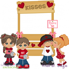 Kisses 5 Cents SVG Cutting Files + Clipart