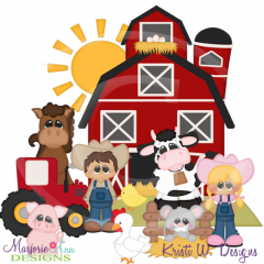 Farm Living SVG Cutting Files Includes Clipart