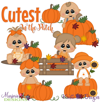 The Cutest Pumpkin SVG Cutting Files Includes Clipart