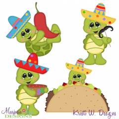 Taco Tuesday-Turtles SVG Cutting Files + Clipart