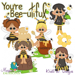 Bee Fairies SVG Cutting Files + Clipart
