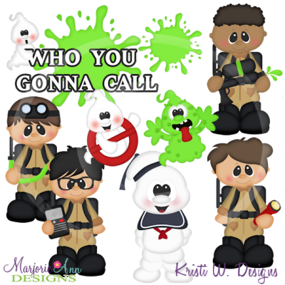 Ghostbusters SVG Cutting Files Includes Clipart