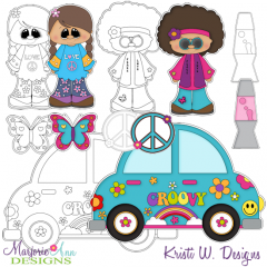 Peace and Love Digital Stamps + Clipart