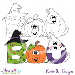 Boo Digital Stamp + Clipart