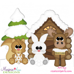 Winter Cabin EXCLUSIVE SVG Cutting Files Includes Clipart