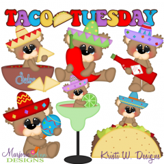 Taco Tuesday SVG Cutting Files Includes Clipart