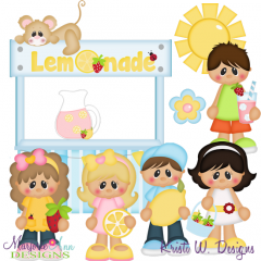 Sweet Summer Strawberry Lemonade SVG Cutting Files + Clipart