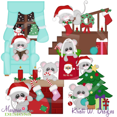Night Before Christmas SVG Cutting Files Includes Clipart