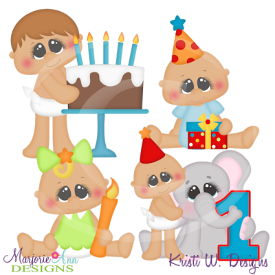 Baby's First Birthday SVG Cutting Files Includes Clipart