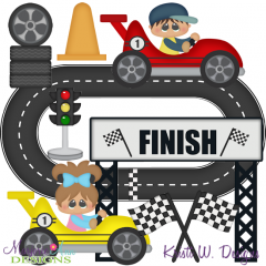 Go Kart Fun SVG Exclusive Cutting Files + Clipart