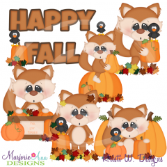 Foxy Loves Fall SVG Cutting Files Includes Clipart