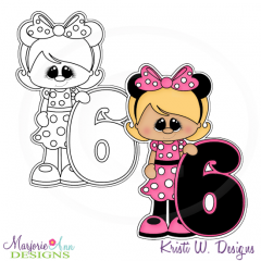 A Very Minnie 6th Birthday Exclusive Digital Stamp + Clipart