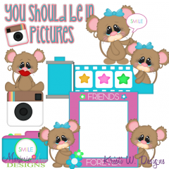 You Should Be In Pictures Exclusive SVG Cutting Files + Clipart