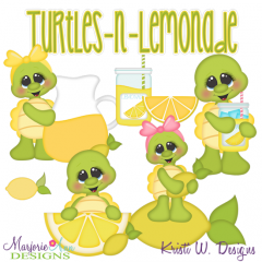 Turtles & Lemonade SVG Cutting Files Includes Clipart