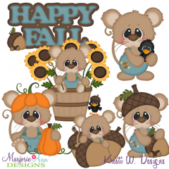 Fall Fun Mice SVG Cutting Files + Clipart