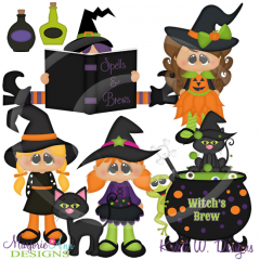 Witch's Brew SVG Cutting Files Includes Clipart