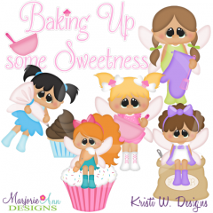 Baking Fairies SVG Cutting Files Includes Clipart
