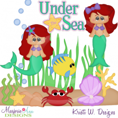Sea Princess SVG Cutting Files Includes Clipart