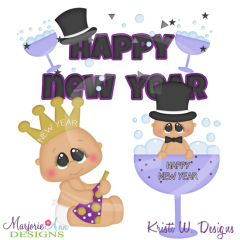 Holiday Kids~New Year SVG Cutting Files Includes Clipart