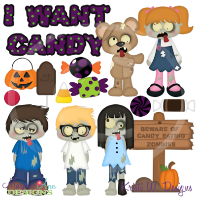 I Want Candy SVG Cutting Files Includes Clipart