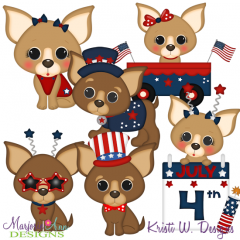 American Chihuahua SVG Cutting Files + Clipart