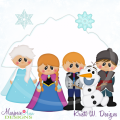 Ice Princess SVG Cutting Files Includes Clipart