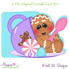 Christmas Tea Ginger 1~Shaped SVG/MTC Card Kit/Cutting File