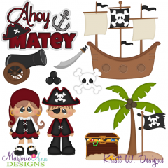 A Pirate's Life For Me SVG Cutting Files Includes Clipart