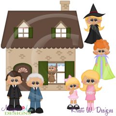 Sitcom Witch SVG Cutting Files Includes Clipart
