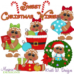 Christmas Sweeties SVG Cutting Files Includes Clipart