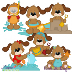 Summer Fun SVG Cutting Files + Clipart