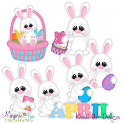 Hoppy Easter Exclusive SVG Cutting Files Includes Clipart