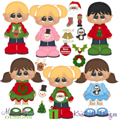 Create Your Own-Ugly Christmas Sweater SVG Cutting Files+Clipart