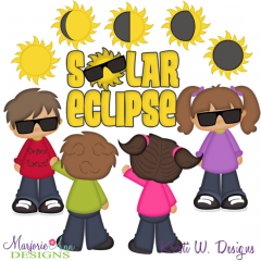 Solar Eclipse SVG Cutting Files Includes Clipart