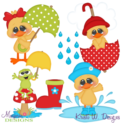Splish Splash SVG Cutting Files Includes Clipart