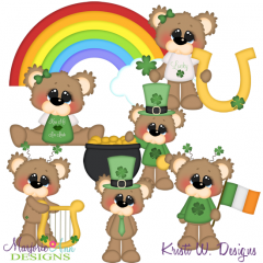 Bubbles The Lucky Bear SVG Cutting Files Includes Clipart