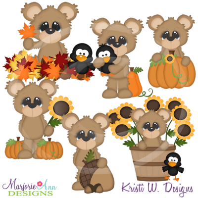 Fuzzy Loves Fall SVG Cutting Files Includes Clipart