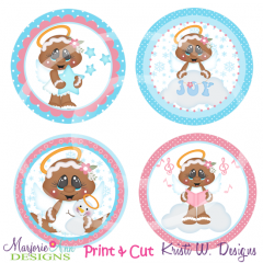 Sugar Angels Gingers Exclusive SVG Cutting Files + Clipart