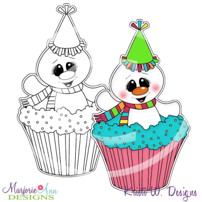 Frosty's Birthday 2 Digital Stamp + Clipart