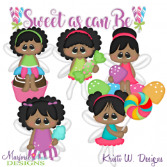 Sweet As Can Be-African American SVG Cutting Files + Clipart