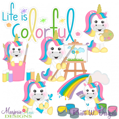 Life Is Colorful SVG Cutting Files + Clipart