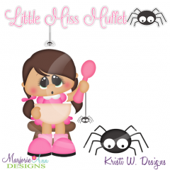 Little Miss Muffet SVG Cutting Files Includes Clipart