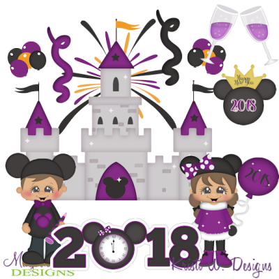Magical New Year Exclusive SVG Cutting Files + Clipart